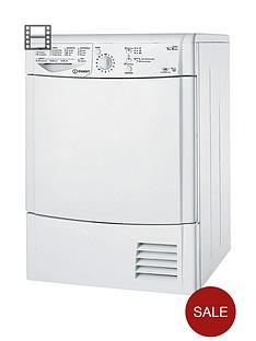 Indesit Ecotime IDCL85BH 8kg Condenser Sensor Dryer - White