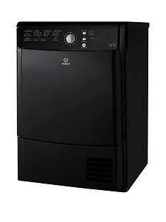 indesit-idcl85bhk-8kg-sensor-condenser-dryer-black