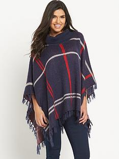south-brushed-check-poncho