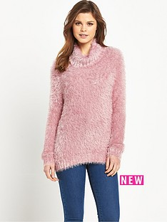 south-fluffy-roll-neck-jumper