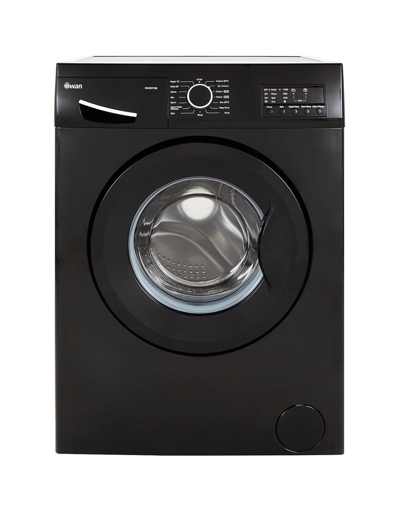 Swan SW2070B 1400 Spin 7kg Washing Machine (Black)