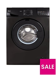 Swan SW2080B 8kg Load, 1400 Spin Washing Machine - Black