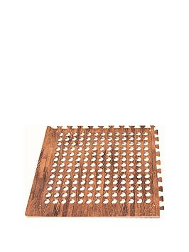 streetwize-accessories-streetwize-eva-pack-of-four-dark-wood-print-tiles