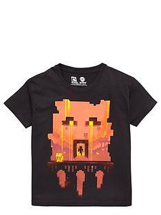 minecraft-minecraft-red-face-tee