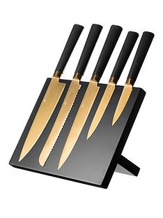 viners-titanium-gold-knife-block-6-piece