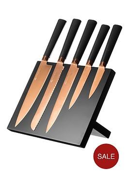 viners-titanium-copper-knife-block-6-piece
