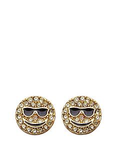 juicy-couture-smiley-face-stud-earring-gold