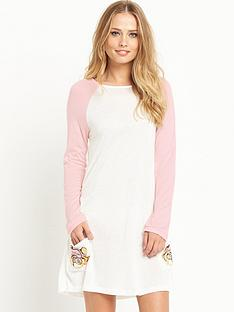 mink-pink-do-not-disturb-long-sleeve-t-shirt-dress