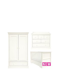 mamas-papas-oxford-cot-bed-dresser-amp-wardorbe-white