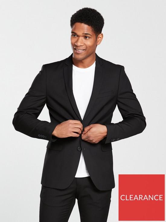 015b708faff692 V by Very Skinny Suit Jacket - Black