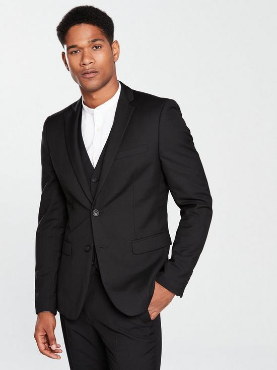 bab8b6b8e0864f V by Very Slim Suit Jacket - Black
