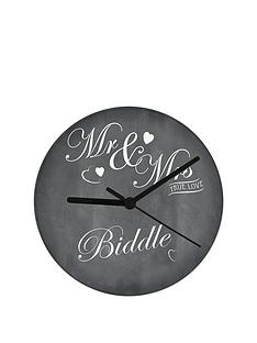 personalised-mr-and-mrs-chalkboard-clock
