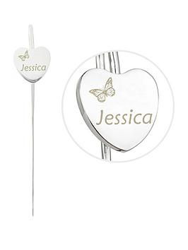 personalised-butterfly-motif-heart-bookmark