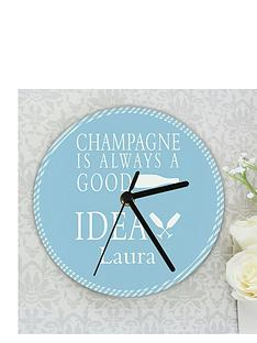 personalised-champagne-is-always-a-good-idea-clock