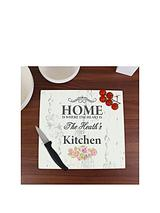 Personalised Shabby Chic Home Glass Chopping Board