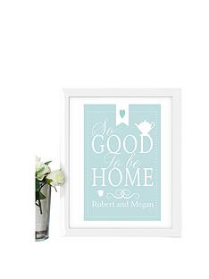 personalised-good-to-be-home-poster-frame