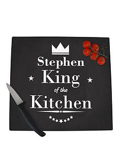 personalised-king-of-the-kitchen-glass-chopping-board