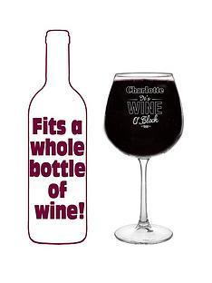 personalised-wine-o039clock-bottle-of-wine-glass
