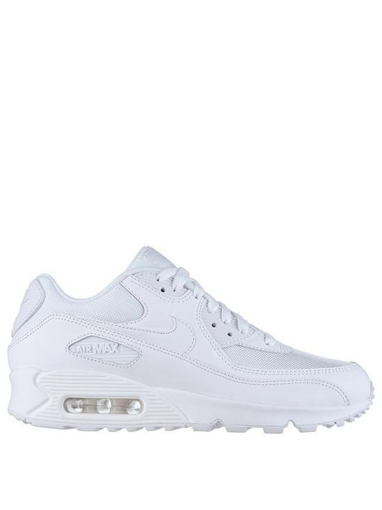 722a969b13a8f Nike Air Max 90 Essential Shoe - Triple White | very.co.uk