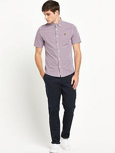 lyle-scott-lyle-amp-scott-ss-gingham-check-shirt