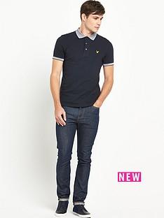 lyle-scott-stripe-knitted-collarnbsppolo-shirt-ndash-new-navy