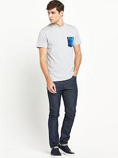 lyle-scott-lyle-amp-scott-tartan-detail-crew-neck-tshirt