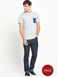 lyle-scott-tartan-detail-crew-neck-t-shirt