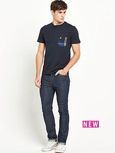 lyle-scott-tartan-detail-crew-neck-tshirt