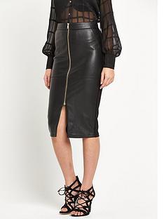 river-island-wet-look-zip-front-pencil-skirt