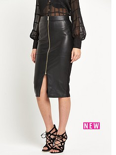 river-island-wet-look-zip-front-pencil-skirt
