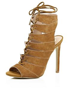 river-island-river-island-caged-tie-up-suede-open-heel-sandal