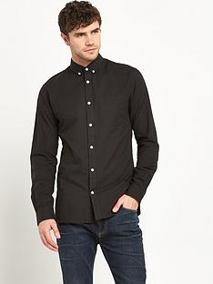 jack-jones-david-mens-oxford-shirt-ndash-black