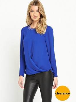 v-by-very-embellished-wrap-front-blouse