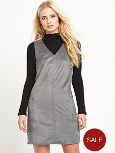 warehouse-suedettenbsppocket-shift-dress