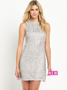 oasis-metallic-lace-shift-dress