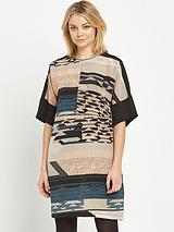 Tapestry Landscape Print Dress
