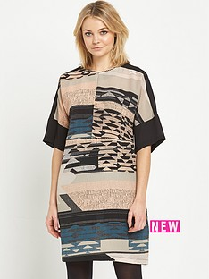 warehouse-tapestry-landscape-print-dress