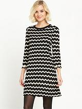 Compact Chevron Dress