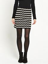 Compact Chevron Skirt
