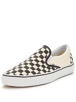 vans-classic-checkerboard-slip-onnbspplimsolls-blackwhite