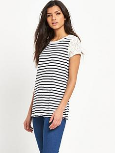 hilfiger-denim-hilfiger-denim-basic-striped-lace-knit