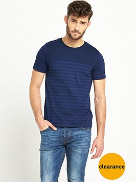 v-by-very-crew-neck-short-sleeve-stripe-t-shirt