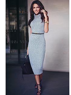 lipsy-lipsy-mk-knitted-roll-neck-midi-dress