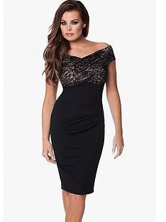 jessica-wright-cara-bardot-lace-top-dress