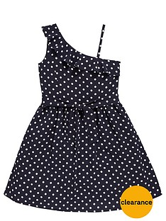 freespirit-girls-ruffle-one-shoulder-polka-dot-dress