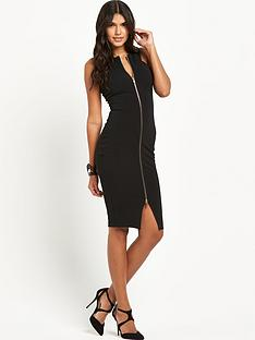 ax-paris-zip-front-midi-dress