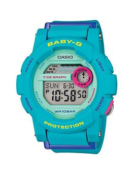 Baby-G Digital G-lide Turquoise Blue Strap Ladies Watch