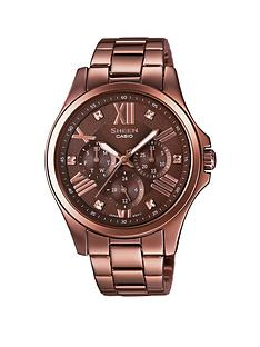 casio-sheen-casio-sheen-multifunction-black-dial-with-stainless-steel-brown-bracelet-ladies-watch