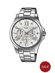 casio-sheen-casio-sheen-multifunction-silver-dial-with-silver-stainless-steel-bracelet-ladies-watch