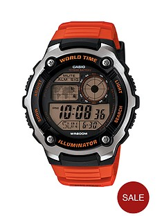 casio-men039s-digital-watch-with-orange-strap
